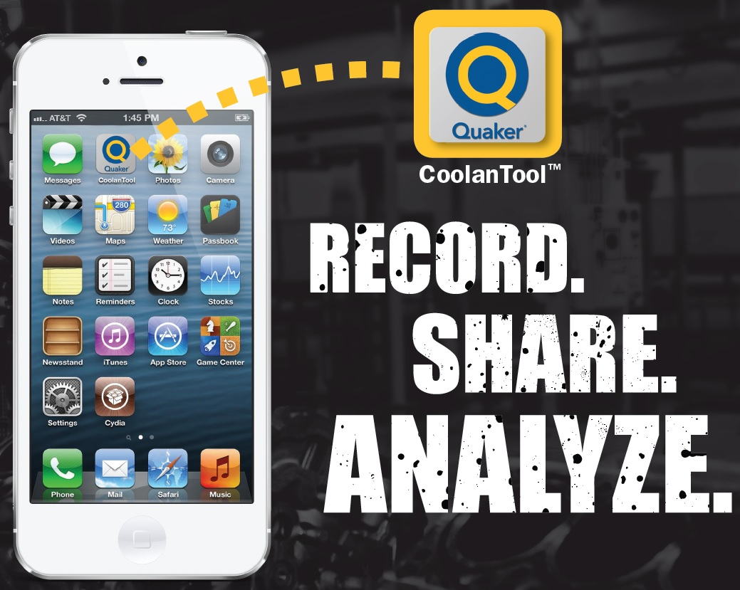 Quaker Chemical's CoolanTool app tracks and analyzes metalworking fluid usage.