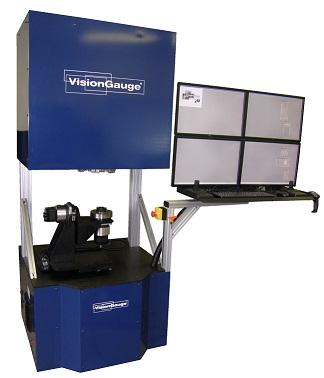The VisionGauge 700 Series digital optical comparator from VISIONx rapidly compares machined parts with their CAD data.