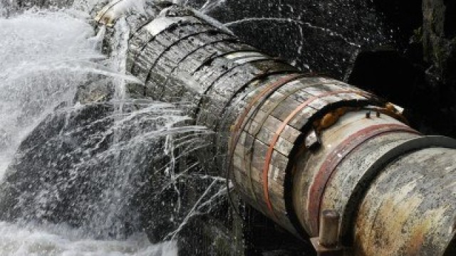 The frequency of broken water pipes -- some of which have been in use for decades or centuries -- is driving federal programs to incentivize infrastructure revitalization. Credit: U.S. Water Alliance