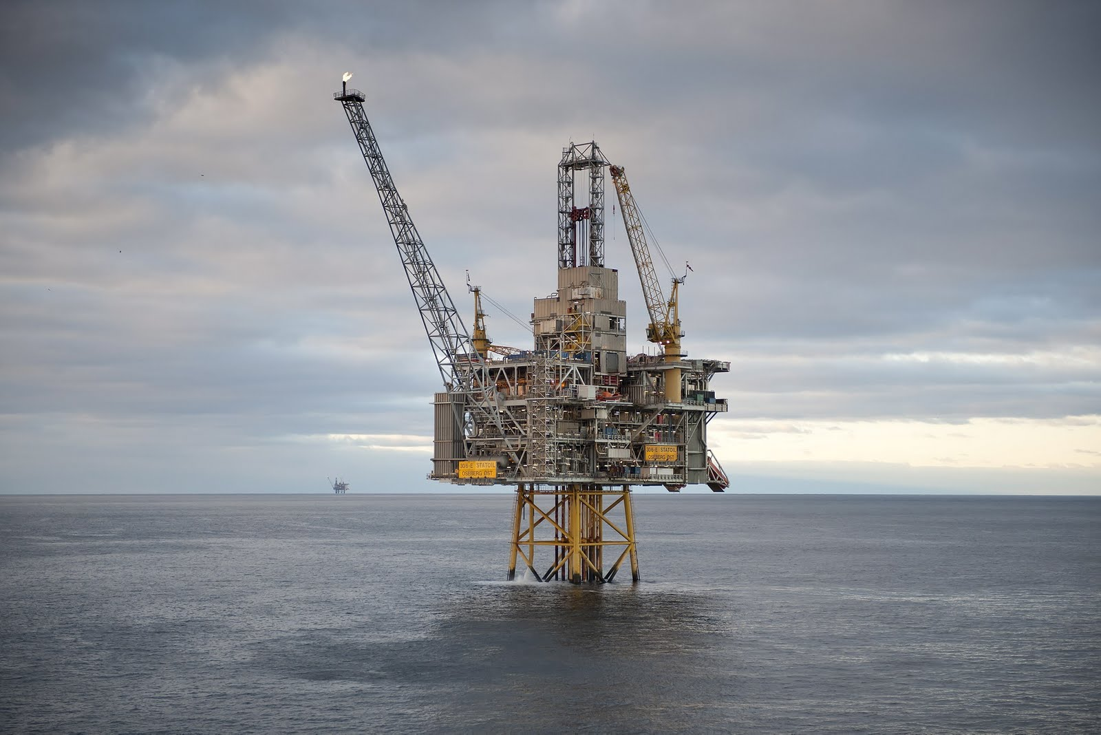 A Statoil gas rig in the Norwegian Sea