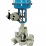 Metso's flow control valve products include the GM Series globe valve, shown here with a multistage design.