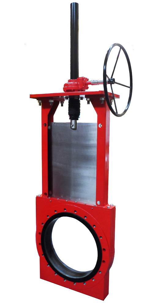 The SKW slurry knife gate valve is designed to withstand abrasive slurries. Credit: Flowrox